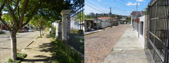 Fig. 18 - Em dias de verão, com o sol bem forte, em qual dessas calçadas você prefere andar?