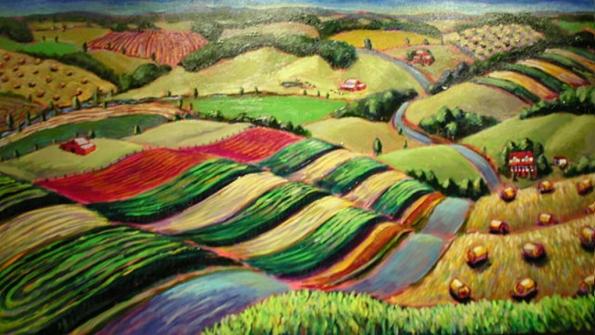 Fig. 87 – Vista poética da agricultura de contorno. Fonte: Ardin Rixi – Linas Gianarou [141].